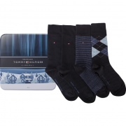Sada ponožiek 4PACK TOMMY HILFIGER MEN ARGYLE STRIPE BOX 322