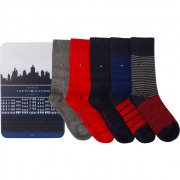 Sada ponožiek 5Pack Tommy Hilfiger MEN STRIPE BOX 085