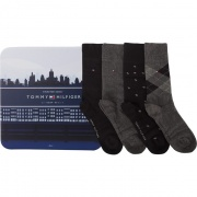 Sada ponožiek 4PACK TOMMY HILFIGER MEN ARGYLE BOX 200