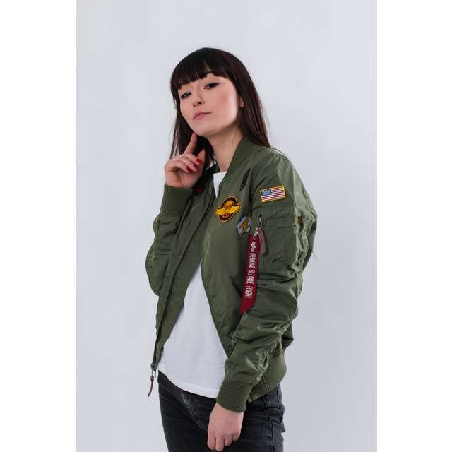e6656ea1f Dámska bunda ALPHA INDUSTRIES MA-1 TT PATCH II WMN 01 ZELENÁ