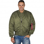 Pánska bunda ALPHA INDUSTRIES MA 1 01 zelená