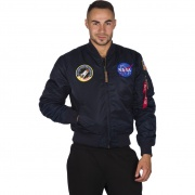 Pánska bunda ALPHA INDUSTRIES MA-1 VF NASA 07 modrá
