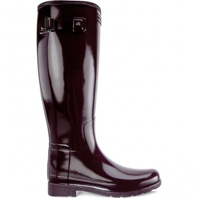Dámske gumáky HUNTER WOMEN'S ORIGINAL REFINED TALL OXBLOOD