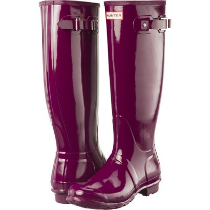 Dámske gumáky HUNTER WOMEN'S ORIGINAL TALL GLOSS VIOLET