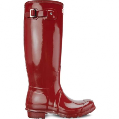 Dámske gumáky HUNTER WOMEN'S ORIGINAL TALL GLOSS MILITARY RED