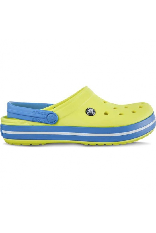 Šľapky CROCS CROCBAND TENNIS BALL GREEN/OCEAN