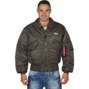 Pánska bunda ALPHA INDUSTRIES CWU 45 04 sivá