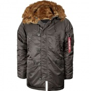 Pánska bunda ALPHA INDUSTRIES N3B VF 59 04 REP. GREY
