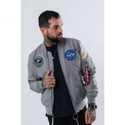 Pánska bunda ALPHA INDUSTRIES  MA-1 TT NASA REVERSIBLE II 31 SIVÁ