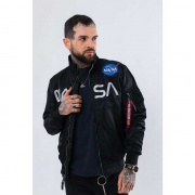 Pánska bunda ALPHA INDUSTRIES  NASA JACKET FLIGHT NYLON 03 ČIERNA