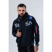 Pánska bunda ALPHA INDUSTRIES  NASA JACKET FLIGHT NYLON 07 MODRÁ
