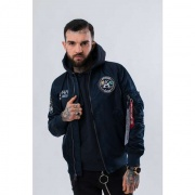 Pánska bunda ALPHA INDUSTRIES  MA-1 MOON LANDING REV 07 MODRÁ