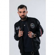 Pánska bunda ALPHA INDUSTRIES  MA-1 MOON LANDING REV 03 ČIERNA