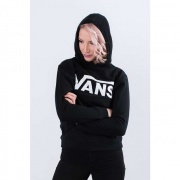 Dámska mikina VANS  CLASSIC PULLOVER Y28 BLACK/WHITE