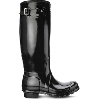 Dámske gumáky HUNTER  WOMEN'S ORIGINAL TALL GLOSS BLACK