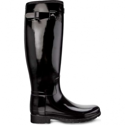 Dámske gumáky HUNTER  WOMEN'S ORIGINAL REFINED TALL BLACK
