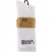 Ponožky VANS  3PACK MN CLASSIC CREW WHITE