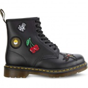 Topánky DR. MARTENS  1460 SMOOTH PATCH BLACK