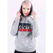 Mikina LEVI'S  GRAPHIC SPORT HOODIE 0000 SIVÁ