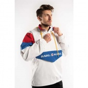 Bunda KARL KANI  RETRO BLOCK WINDBREAKER WHITE