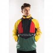 Bunda KARL KANI  BLOCK WINDBREAKER GREEN
