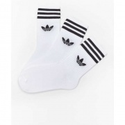 Ponožky ADIDAS 3PACK  MID-CUT CREW SOCKS WHITE