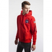Pánska mikina ALPHA INDUSTRIES  SPACE SHUTTLE HOODY 328 SPEED RED