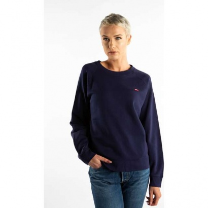Mikina LEVIS  RELAXED GRAPHIC CREW 0059 BLUE