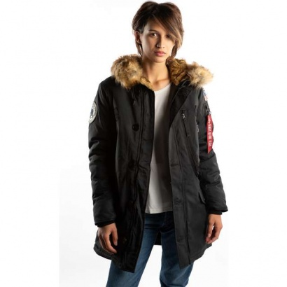Dámska bunda ALPHA INDUSTRIES  POLAR JACKET WMN 03 BLACK