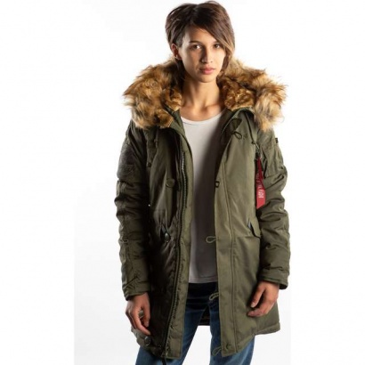 Dámska bunda ALPHA INDUSTRIES  EXPLORER WMN 257 DARK GREEN