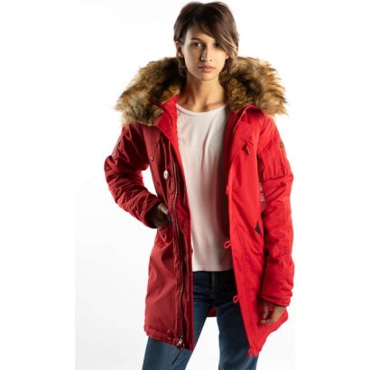 Dámska bunda ALPHA INDUSTRIES  EXPLORER WMN 328 SPEED RED