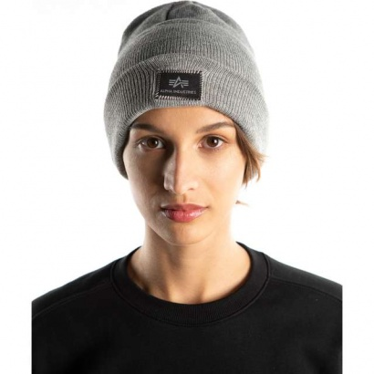 Čiapka ALPHA INDUSTRIES  X-FIT BEANIE 17 GREY HEATHER