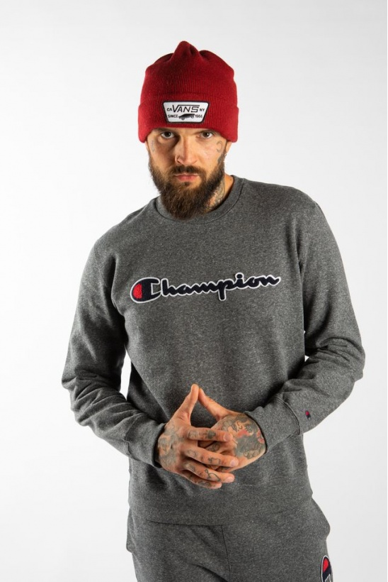 Pánska mikina CHAMPION CREWNECK SWEATSHIRT EM516 DARK GREY