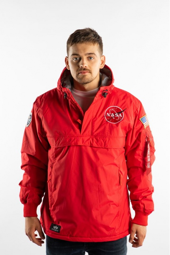 Pánska bunda ALPHA INDUSTRIES  NASA ANORAK 328 SPEED RED
