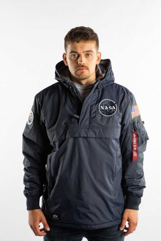 Pánska bunda ALPHA INDUSTRIES  NASA ANORAK 07 REP. BLUE