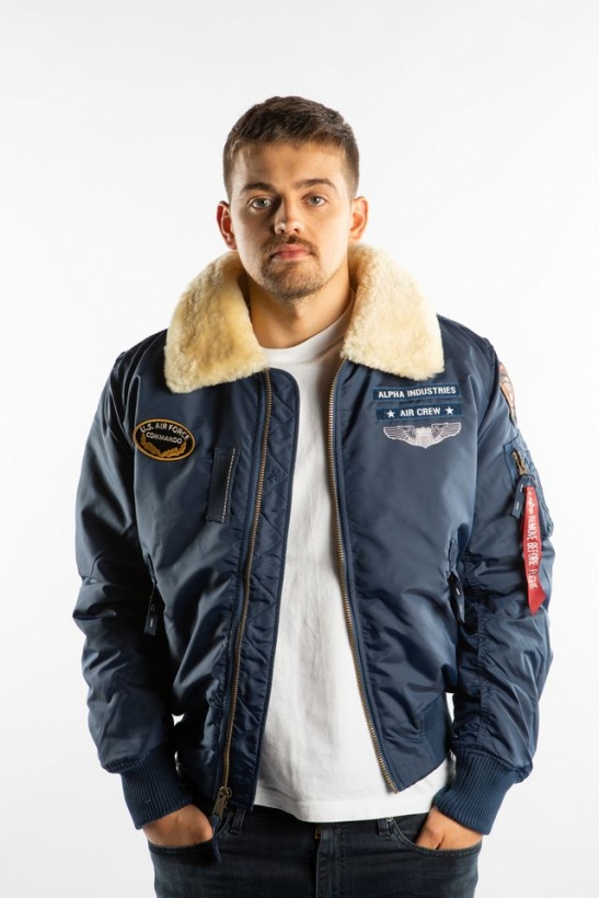 Pánska bunda ALPHA INDUSTRIES  INJECTOR III AIR FORCE 435 NEW NAVY