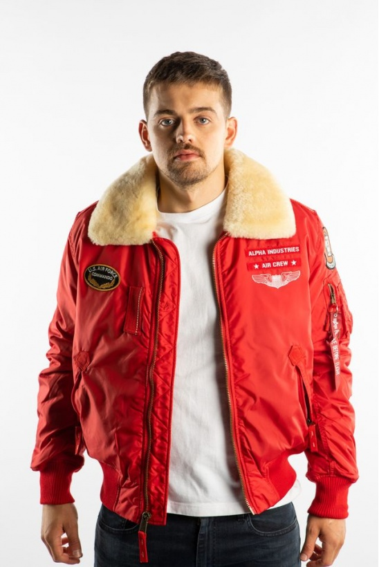 Pánska bunda ALPHA INDUSTRIES  INJECTOR III AIR FORCE 328 SPEED RED