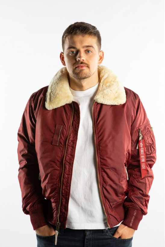 Pánska bunda ALPHA INDUSTRIES  INJECTOR III 184 BURGUNDY