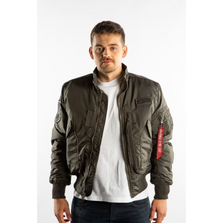 Pánska bunda ALPHA INDUSTRIES ENGINE 04 sivá