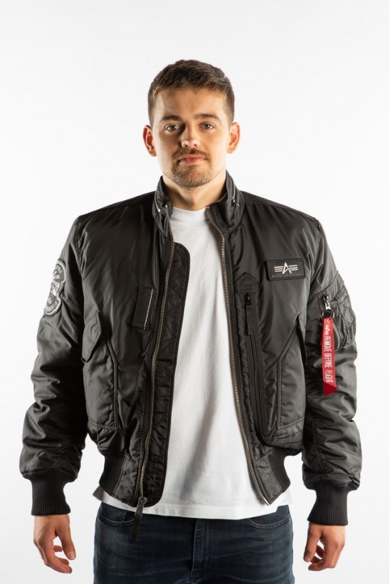 Pánska bunda ALPHA INDUSTRIES ENGINE 03 čierna