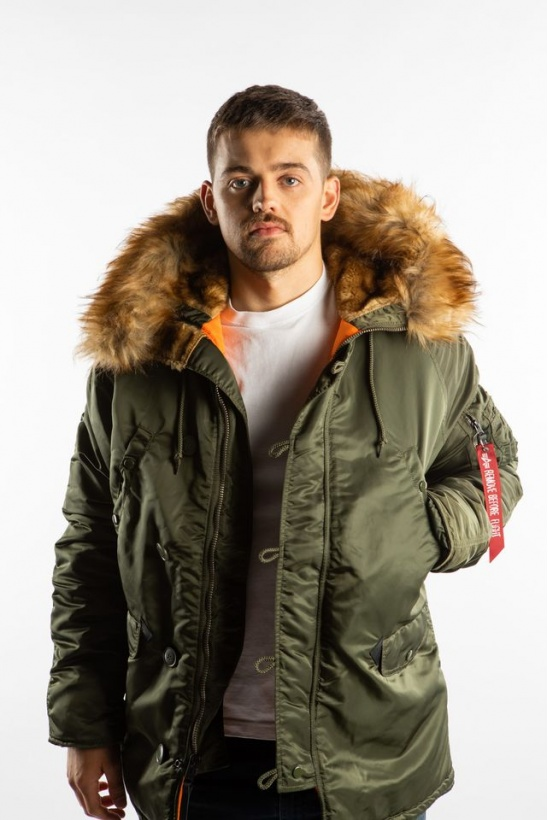 Pánska bunda ALPHA INDUSTRIES  N3B VF 59 257 DARK GREEN