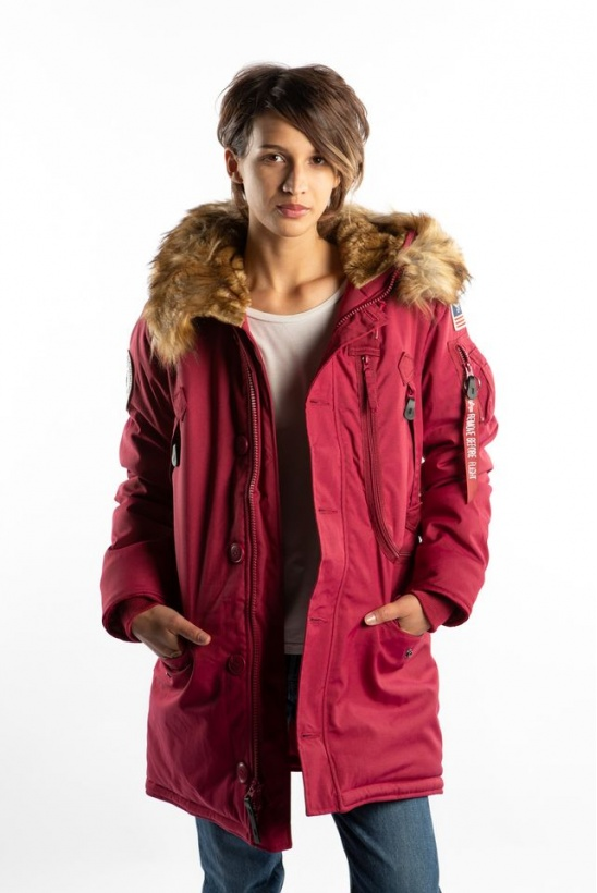 Dámska bunda ALPHA INDUSTRIES  POLAR JACKET WMN 454 MAJOR RED