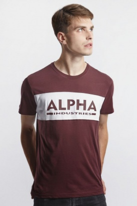 Pánske tričko ALPHA INDUSTRIES  ALPHA INLAY T 21 DEEP