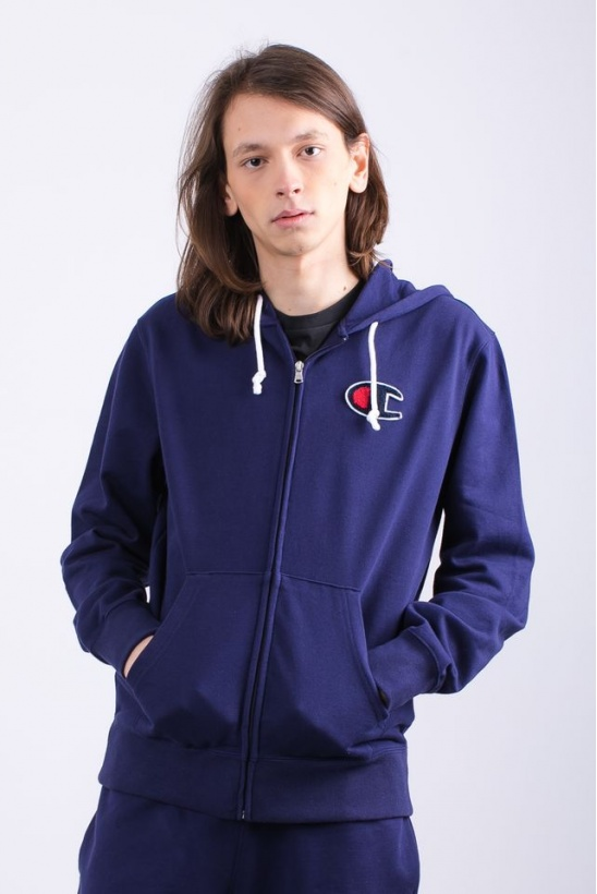Pánska mikina CHAMPION  HOODED FULL ZIP SWEATSHIRT BS536 ECL