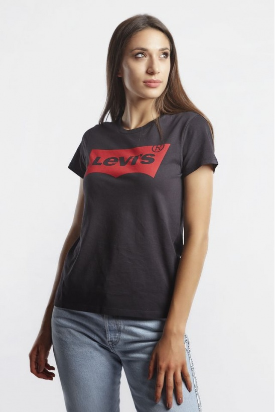Tričko LEVIS  THE PERFECT GRAPHIC TEE 0201 BLACK