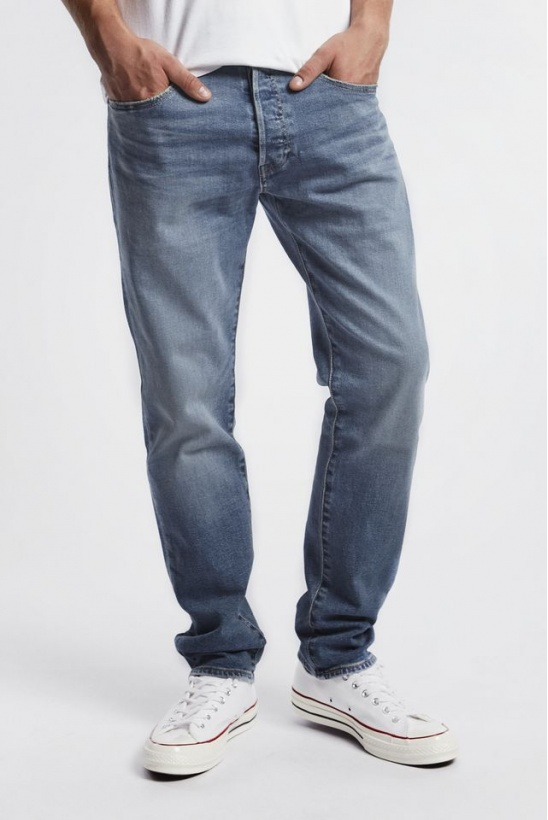 Rifle LEVIS 501 SLIM TAPER JEANS 0179 IRONWOOD