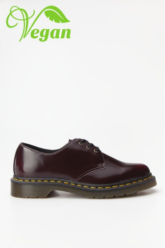 Topánky DR.MARTENS VEGAN 1461 OXFORD BRUSH CHERRY RED