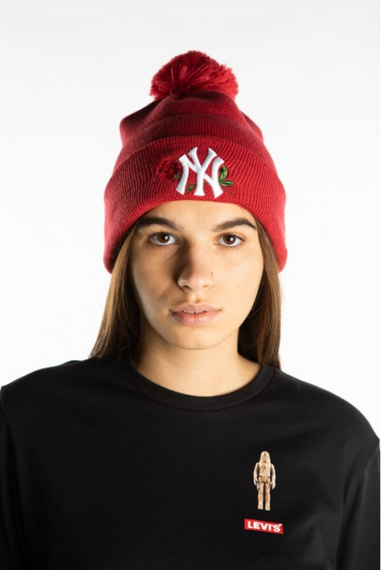 Čiapka NEW ERA TWINE BOBBLE KNIT 618 RED