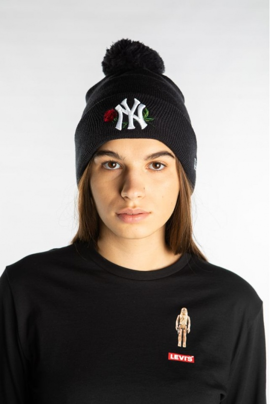 Čiapka NEW ERA MLB TWINE BOBBLE KNIT 619 NAVY