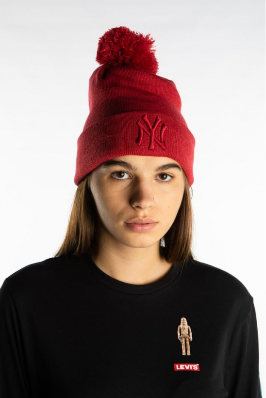 Čiapka NEW ERA LEAGUE ESSENTIALS BOBBLE KNIT 633 RED